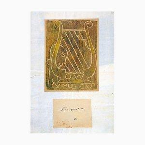 Ex Musicis - Original Holzschnitt von M. Fingesten - Früh 1900 Früh 1900