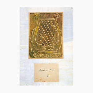Ex Musicis - Original Woodcut by M. Fingesten - Early 1900 Early 1900