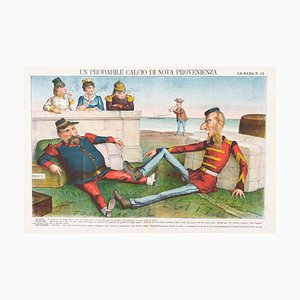 Lithographie Probable Kick Of Known Origin - Lithographie par Augusto Grossi - 1860s 1860s
