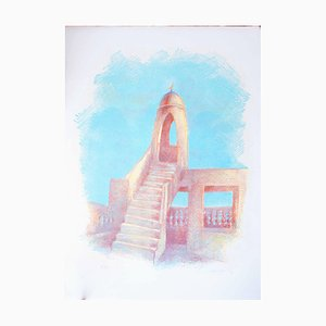 Islamic Tower - Original Lithograph by Gustavo Francalancia - 1970s 1970s
