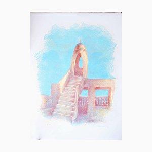 Islamic Tower - Original Lithographie von Gustavo Francalancia - 1970s 1970s