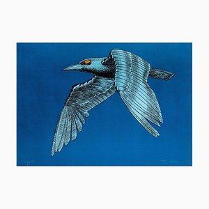 The Mechanical Bird - Original Lithograph by Aldo Turchiaro - 1980 1980