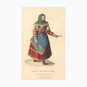 Costume di Chieuti Albanesi - Watercolor by M. De Vito - 1820 ca. 1820 c.a.