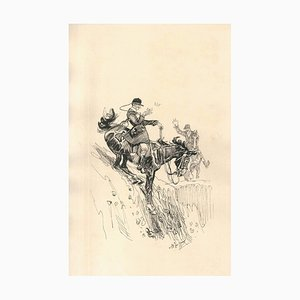 Soldat tritt von einer Klippe