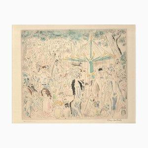 Amicalement - from Rues et Visages de Paris - Drypoint/Etching - 1920s - Modern 1926