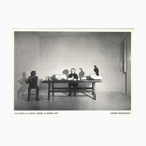 Kounellis 'Performance - 1970s - Jannis Kounellis - Photo - Contemporain 1973
