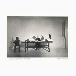 Rendimiento de Kounellis - años 70 - Jannis Kounellis - Foto - Contemporary 1973