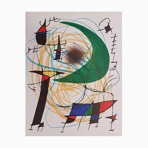 Mirò Lithographe I - Plate V 1972