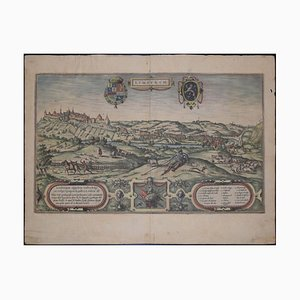 Limburg, Antike Karte von '' Civitates Orbis Terrarum '' 1572-1617