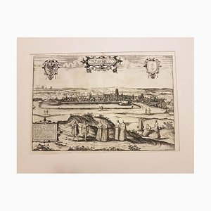 Danzica, Mappa antica di '' Civitates Orbis Terrarum '' - 1572-1617 1572-1617