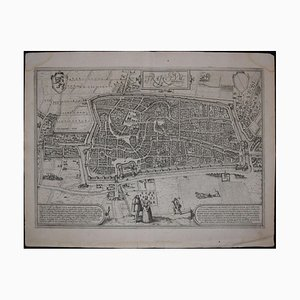 Utrecht, Antike Karte von '' Civitates Orbis Terrarum '' 1572-1617