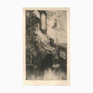 Le Rêve - Original Etching by H. D. Courselles - 1890s 1890s