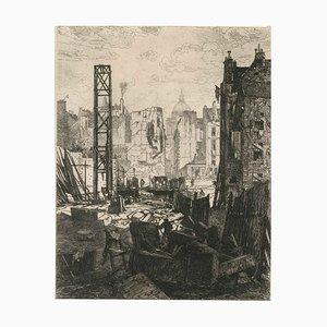 Démolitions pour le percement du boulevard Saint-Germain 1864