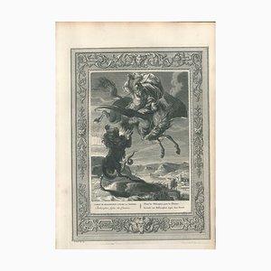 Combat de Bellerophon contre la Chimere, von '' Le Temple des Muses '' 1742