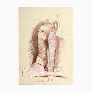Nude / Original Mixed Media by Sergio Vacchi - 1985 1985
