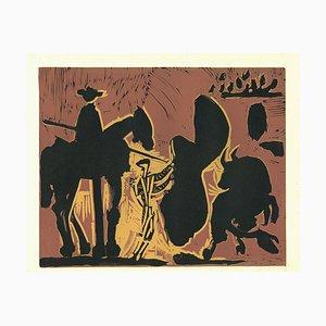 Avant la Pique - Linocut Reproduction After Pablo Picasso - 1962 1962