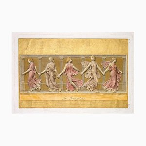 The Dancers - Colored Etching by L. Cunego After B. Nocchi - 1821 1821