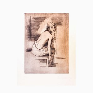 Young Model - Original Etching by Theodore Stravinsky - 1932 1932