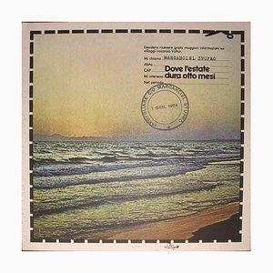 Valtur Where the Summer Lasts Eight Months - Original Screen Print by C. Cintoli 1973