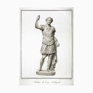 Statue of Calligola - Original Etching by P. Fontana After B.Nocchi - 1794 1794