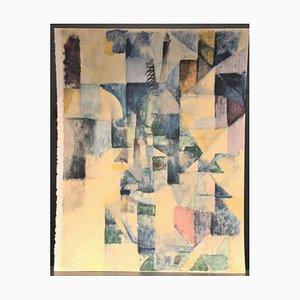 Pochoir La Fenêtre n.2 Original par R. Delaunay - 1957 1957