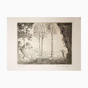 Nymphe et Faunes - Etching by K.-X. Roussel - 1900 ca. 1900 ca.