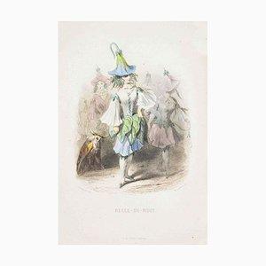 Belle-de-Nuit - Les Fleurs Animées Vol.I - Litho von JJ Grandville - 1847 1847