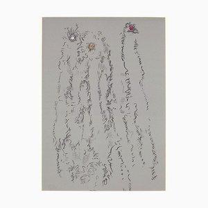 Untitled - From '' Les Chiens ont soif '' - Original Lithographie von Max Ernst - 1964 1964