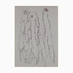 Untitled - From ''Les Chiens ont soif'' - Original Lithograph by Max Ernst - 1964 1964
