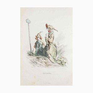 Capucine - Les Fleurs Animées Vol.I - Litho by J.J. Grandville - 1847 1847