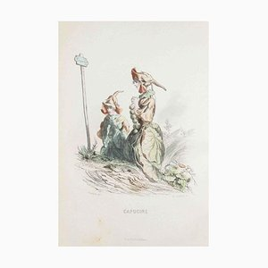 Capucine - Les Fleurs Animées Vol.I - Litho von JJ Grandville - 1847 1847
