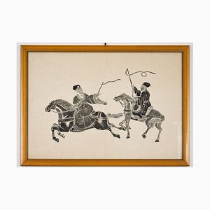 Riders - Original Holzschnitt Frühes 20. Jahrhundert Frühes 20. Jahrhundert