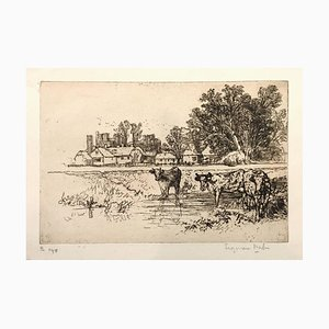 Cowdray Castle (with cows) 1882