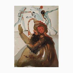 Joseph et fratres in Aegypto - Original Lithographie von S. Dalì 1964