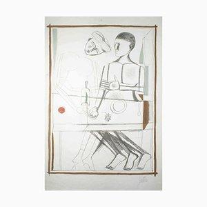 Two Men - Original Lithograph by Franco Gentilini - 1960 ca. 1960 ca.