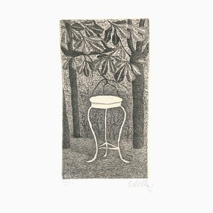 Tisch in Holz - Original Radierung von Giuseppe Viviani - 1949 1949