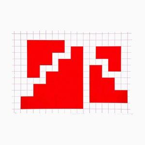 Situation A - Original Lithograph by Nicola Carrino - 1970 ca. 1970