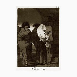 ¡Pobrecitas! - Original Etching by Francisco Goya - 1868 1868