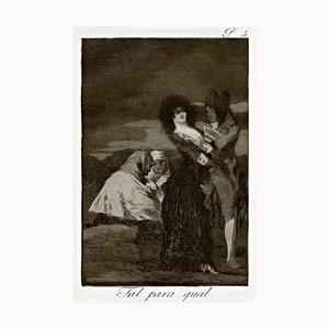 Tal Para Qual - Origina Etching by Francisco Goya - 1868 1868