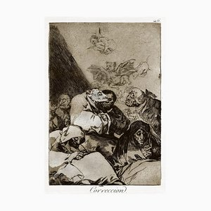Correccion - Origina Etching and Aquatint by Francisco Goya - 1868 1868