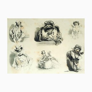 Monorganorama - Suite of 5 Original Lithographs by A. Grevin - 1858 1858