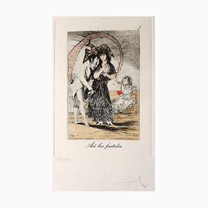 Capricho de Goya n°7 - Héliogravure and Pochoir - 1977 1977