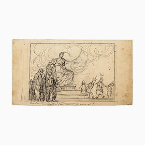 Prisoners - Stift und Bleistift Zeichnung von G. Galantara - Frühes 20. Jahrhundert Frühes 20. Jahrhundert