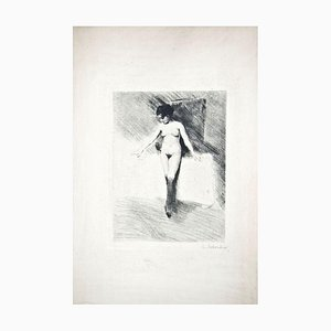 The Little Model - Original Drypoint by Lino Selvatico - 1910 1910