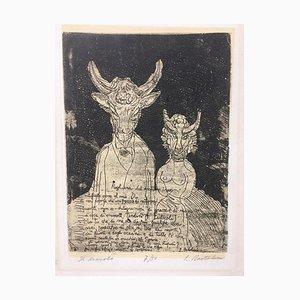 Il Diavolo (The Devil) - Etching by Luigi Bartolini - 1950s 1950s