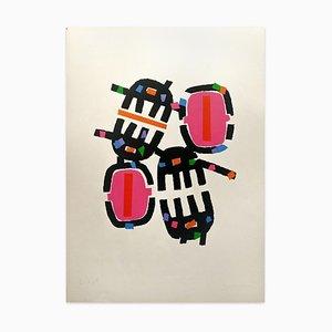Litografía Opale 5 - Original de Giuseppe Capogrossi - 1971 1971