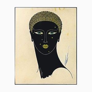 Queen of Sheba - Original Screen Print by Erté - 1980 ca. 1980 ca.