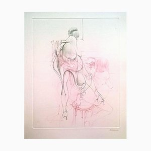 Idée sur les Romans - Original Etching by H. Bellmer - 1968 1968