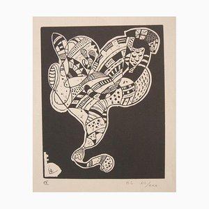 Gravure 10 pour Origine - Original Woodcut Print by Wassily Kandinsky - 1942 1942
