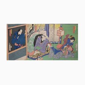 The Young Geisha - Original Woodcut by Kinichika Toyohara - 1900 ca. 1900 ca.